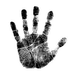 Hand print vector image vector image