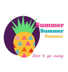 pineapple vector image
