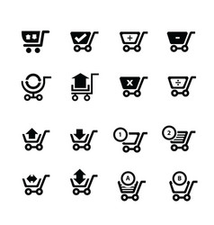 shopping cart icons and symbol and bubble talk vector image vector image