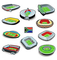 south african soccer stadiums vector image