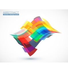 Abstract colorful squares vector image
