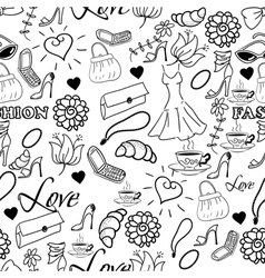 abstract fashion background vector image
