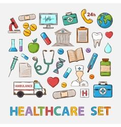 Medical doddle set vector image