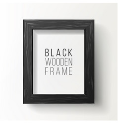 realistic photo frame on white wall from vector image