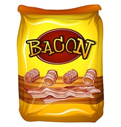 Yellow bag of bacon vector image vector image