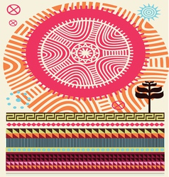 africa colors vector image
