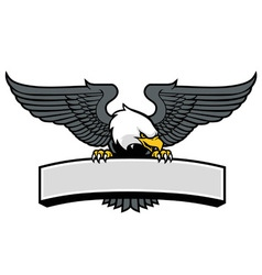 eagle mascot griping the sign vector image vector image