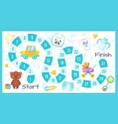 Kids baby shower board game vector