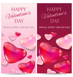 sale header or banner set with discount offer for vector image
