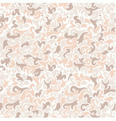 Seamless pattern with beige elements ink vector