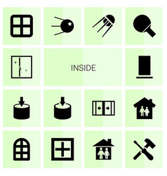 14 inside icons vector