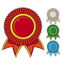 a collection awards icon colored vector image