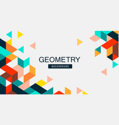 abstract colorful geometry banner design vector image