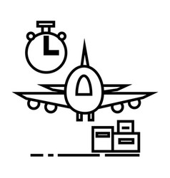 air logisticsfast delivery line icon sign vector image vector image