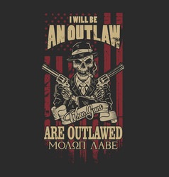 American outlaw graphic vector