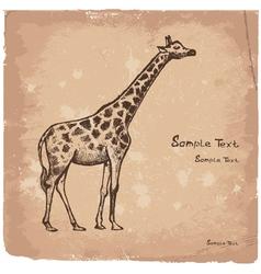 art giraffe2 vector image