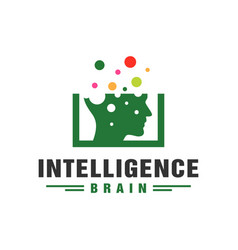 artificial intelligence technology logo vector image