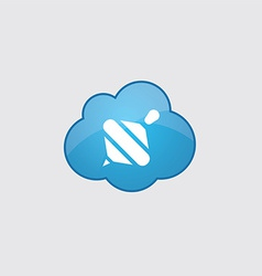 Blue cloud whirligig icon vector