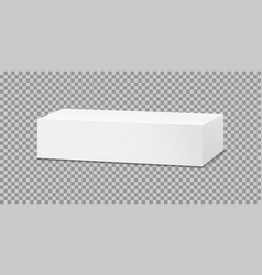 box mockup toothpaste 3d white package vector image