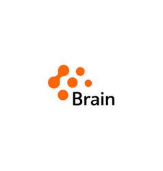 Brain logo silhouette design template vector