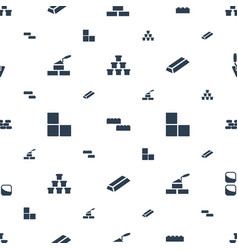 brick icons pattern seamless white background vector image