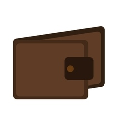 brown man wallet graphic vector image