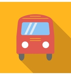 Bus colored flat icon vector