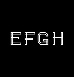 capital letters e f g h created from vector image