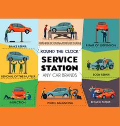 Car service poster vector
