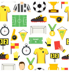 cartoon soccer sport game background pattern vector image