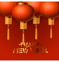 Chinese New Year elements Chinese lanterns vector image