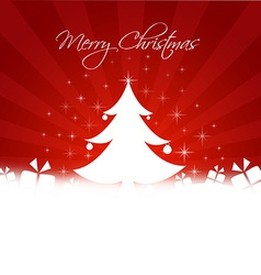 Chrismas tree with gifts box and copy-space vector