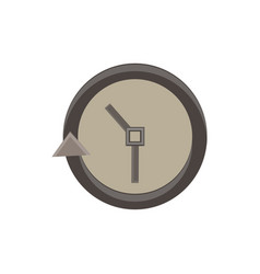 clock icon time simple face isolated watch symbol vector image
