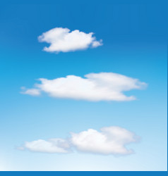 clouds in the blue sky cloud vector image