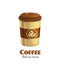 Coffee disposable paper cup vector