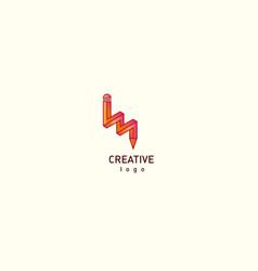 contour modern logo of a pencil vector image