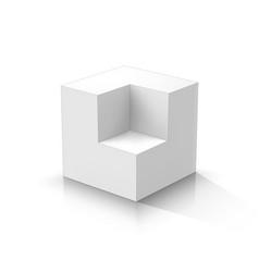 Cutaway cube vector