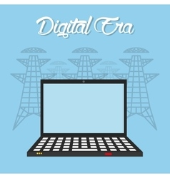 Digital era technology vector image