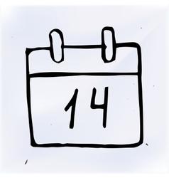 Doodle paper calendar vector