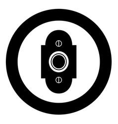 doorbell icon black color simple image vector image