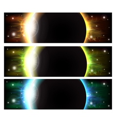 Eclipse banners vector image