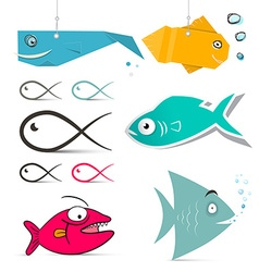 Fish Set vector image
