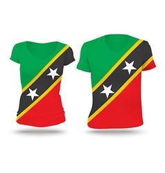 Flag shirt design of Saint Kitts and Nevis vector