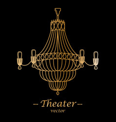For theater black background vector