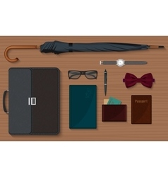 Gentlemen stuff design elements collection set vector image