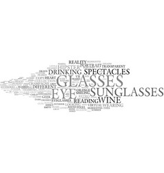 Glasses word cloud concept vector