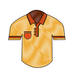 golf polo shirt vector image