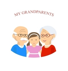 Grandparents Family with Grandchild vector