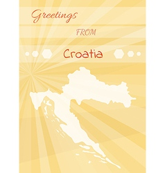 Greetings from croatia vector
