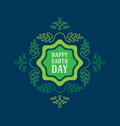 Happy earth day april 22 graphic poster with vector